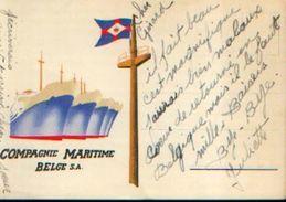Carte Postale De La « COMPAGNIE MARITIME BELGE Sa » - Bateaux