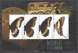 M073 2011 CANOUAN BUTTERFLIES OF THE CARIBBEAN 1KB MNH - Schmetterlinge