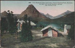 Two Medicine Lake And Camp, Glacier National Park, Montana, C.1910 - H H Tammen Postcard - United States