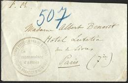 Corps Expeditionnaire  D'Orient  - Troupes Françaises D'Alexandrie  - Franchise Militaire  - Lettre - Marcofilia (sobres)