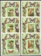 M076 !!! IMPERFORATE 2001 REPUBLIQUE DE GUINEE FAUNA BIRDS BUTTERFLIES SCOUTISM !!! MICHEL 90 EURO !!! 6BL MNH - Autres