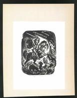 Ex-libris Jiri Kubelka, Ritter Zu Cheval Im Kampf Avec Einem Drachen - Ex-libris