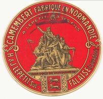 Etiquette à Fromage  A.Lepetit & Ses Fils Falaise Calvados - Quesos