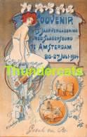 CPA ILLUSTRATEUR ART NOUVEAU SOUVENIR VAN DE 13 E JAARVERGADERING SLAGERSBOND AMSTERDAM 1904 W F K HAMBURGER COCHON PIG - Other Illustrators