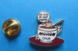 Pin's, Tasse De Café, Maron Chur, Cuillere, Sucre, Limité - Other