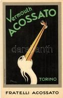 * T2 Fratelli Acossato, Vermouth Acossato Torino. Creazione Atla / Italian Vermouth Advertisement Art Postcard. S: Mingo - Unclassified