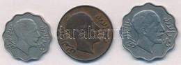Irak 1931. 4f Ni + 1933. 2f Br + 10f Ni T:2,2- Iraq 1931. 4 Fils Ni + 1933. 2 Fils Br + 10 Fils Ni C:XF,VF - Coins & Banknotes