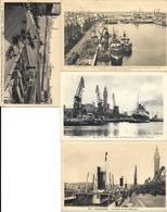 FRANCE -CHERBOURG- 4 BELLES CARTES ECRITES DE CHERBOURG - LE PORT ET TRAFIC MARITIME DE 1937 -38 - Cherbourg