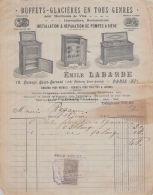75 20 643 PARIS SEINE 1910 Buffets Glacieres EMILE LABARBE Passage Saint Bernard POMPES A BIERE - France