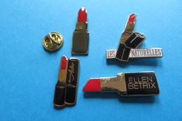 Lot De 4 Pin's,rouge à Lèvre,maquillage,cosmétic - Autres