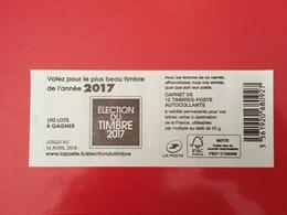(2018) - Carnet 12 VP / Lettre Verte - Votez Pour Le Plus Beau Timbre De L'année 2017 - 2013-... Marianne Di Ciappa-Kawena