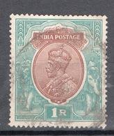 INDIA POSTAGE 1 R. Verde E Bruno - India