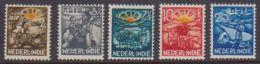 Nederland Indie 1937  NVPH  Nr.  230-234   Used - India Holandeses