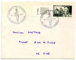 France 1970 Philatelic Cover Chateau-Arnoux W/ Stamp Day Postmarks - Postmark Collection (Covers)