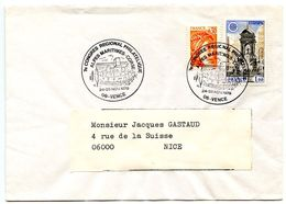 France 1979 Philatelic Cover Vence To Nice, 7th  Regional Philatelic Congress - Postmark Collection (Covers)
