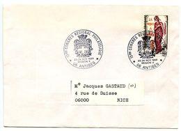 France 1985 Philatelic Cover Antibes, 13th Regional Philatelic Congress - Commemorative Postmarks