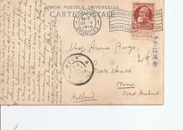 Belgique ( CP De 1910 Avec Cachet Oblitérant De L'exposition De Bruxelles Vers Les Pays-Bas à Voir) - 1910-1911 Caritas