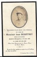Faire-part Décès De DEGUFFROY Jean -( 1925 ) - Mazingarbe ( 62)  - PE - Décès