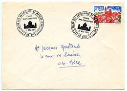 France 1977 Philatelic Cover Nice, Salon Des Antiquaires Et Métiers D'Art - Postmark Collection (Covers)