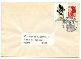 France 1990 Philatelic Cover La Turbie, XVIII Regional Philatelic Congress - Postmark Collection (Covers)