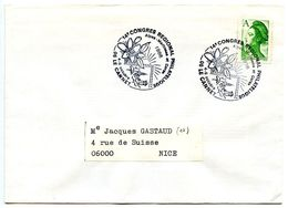 France 1986 Philatelic Cover Le Cannet 14th Regional Philatelic Congress - Postmark Collection (Covers)