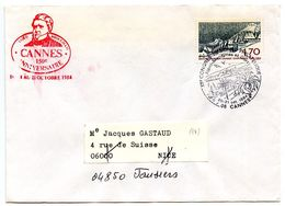 France 1984 Philatelic Cover Cannes, XII Regional Philatelic Congress - Postmark Collection (Covers)