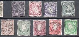 IRLANDA  1922 -23 NOVE VALORI DELLA SERIE - 1922-37 Stato Libero D'Irlanda