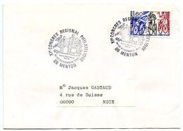 France 1983 Philatelic Cover Menton, XI Regional Philatelic Congress - Postmark Collection (Covers)