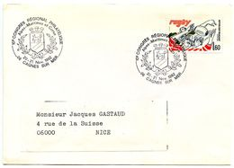 France 1982 Philatelic Cover Cagnes Sur Mer, 10th Regional Philatelic Congress - Postmark Collection (Covers)
