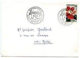 France 1973 Philatelic Cover Nice, International Tourism Fair - Postmark Collection (Covers)