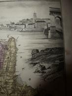 1880 Carte Géographique & Descriptif De La DRÔME (Valence),gravures En Taille Douce Par Migeon, Imprimeur-Géographe - Mapas Geográficas
