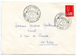 France 1971 Philatelic Cover Nice, International Tourism Fair - Postmark Collection (Covers)