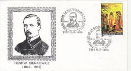 WRITERS, HENRYK SIENKIEWICZ, SPECIAL COVER, 1996, ROMANIA - Writers