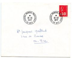 France 1972 Philatelic Cover Nice, Congres Mondial Magistrats - Postmark Collection (Covers)