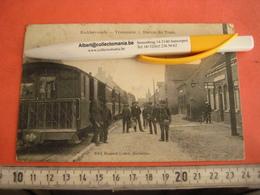 RUDDERVOORDE  1 Postkaart Stoomtram Tramstatie Ruddervoorde 1902 Stempel éditeur RAMOUT  - Lattré , Dentelles Postmannen - Oostkamp