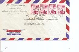Equateur ( Lettre Par Avion De 1957 De Guayaquil  Vers Ambato à Voir) - Ecuador
