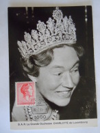 Luxembourg 1985 Grand-Duchesse Charlotte  Timbres Yv Fluo 662c 667c Carte Maximum - Maximumkaarten