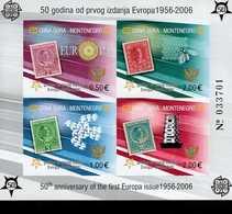 CEPT 50 Jahre Europamarken Montenegro Block 2 B  MNH ** Postfrisch - Montenegro