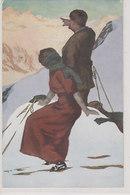 Rast Bei Der Skitour - Signiert         (A-71-180710xx) - Künstlerkarten