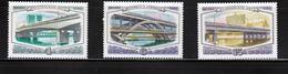 Bridge Luzhniki Kalininskiy MNH 1980 Complete Set Of 3 Russia Sc 4892-94 Mi 5023-25 - Bridges