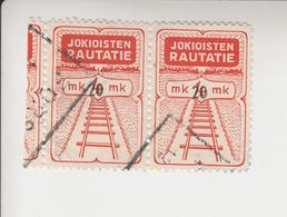 Finland Spoorwegzegel Cat. Hellman Lijn Jokioinen(Jokkis) 31 Paar  Gestempeld - Finland