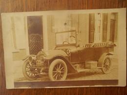 Zeer Oude Foto Kaart Met Auto - Cartes Postales