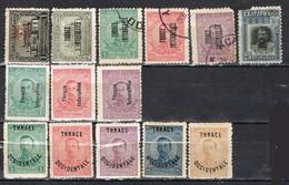 Sellos THRACE OCCIDENTALE, Tracia GRECIA Ocupacion 1919-1920,  Yvert Num 32-56 º/* - Thrace