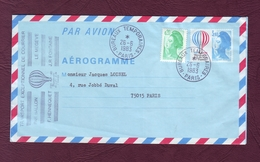 FRANCE- Aérogramme / Transport Exceptionnel De Courrier Par Ballon - LE MEGEVE - 26/06/1983 - Enteros Postales