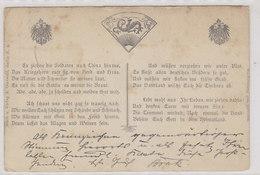 AK Mit Spruch über Den China-Feldzug - Gelaufen Katowitz - 1900        (A-71-180710xx) - Schlesien