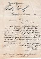 Fcature 1906 / Fritz GRAFF /-Bois & Buments / Corcelles Par Neuchâtel / Suisse / Commande Fumier à Bannans Doubs 25 - Switzerland