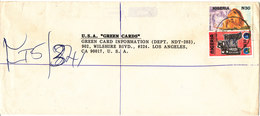 Nigeria Registered Cover Sent To USA With Topic Stamps - Nigeria (1961-...)