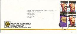 Nigeria Cover Sent To USA 22-1-1996 Topic Stamps - Nigeria (1961-...)