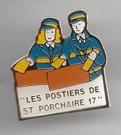 Pin's Les Postiers De Saint Porchaire En Charente Maritime Dpt  17 Réf 5688 - Postes