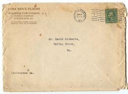 United States 1913 Cover Pittsburgh, Pennsylvania - Armstrong  Cork Floors - Brieven En Documenten